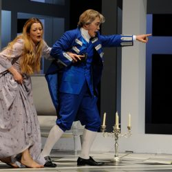 "Gilda in ""Rigoletto"" with Tito You, Staatstheater Darmstadt, 2008, Foto: Barbara Aumueller"